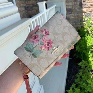 Coach Signature Lily Flap Phone Wallet
